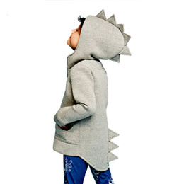 $enCountryForm.capitalKeyWord Australia - New Baby Boys Coat Children's Kid Baby Outerwear Jacket Dinosaur Style Hooded Headwear Coat Clothes For Baby Boys