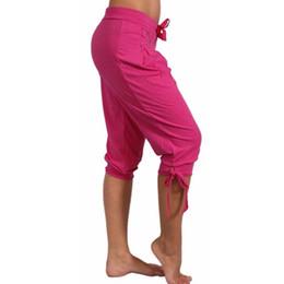 Women S Red Harem Pants Australia - Harem Pants For Women Summer High Waisted Elastic Loose Joggers Sweatpants Calf Length Female Capris Trousers