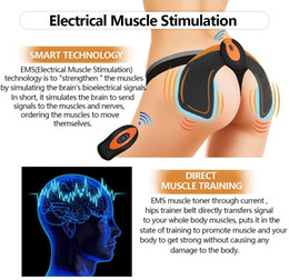 JUNBESTN EMS Hips Trainer, Buttocks Hips Trainer Muscle Toner with 3 Gel Pads Butt Lifting Buttocks Enhancement Device, Smart Fitness Traini