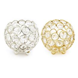 $enCountryForm.capitalKeyWord UK - Gold Candle Holders Crystal Ball Candlestick 8cm 10cm 12cm 15cm Lantern Candelabra Home Decorative Wedding New Year Party Decor