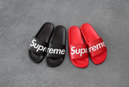Yarn shoes online shopping - new SS Men Flats Sandals Non slip Bathroom Slippers slipper without box ss sup black red summer house shoes men slippers