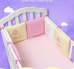 baby bumper bedding sets NZ - Hot Sale 6Pcs Lot Baby Bed Bumper in the Crib Cot Bumper Baby Bed Protector Crib Bumper Newborns Toddler Bed Bedding Set