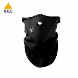 winter fleece face mask NZ - Brand Winter Warmer Windproof Neck Protector Face Mask For Sport Fleece Half Helmet Hiking Ski Snowboarding Bicycle Cycling Mask
