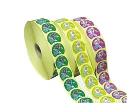 Round Stickers Roll Australia - customized round roll packing adhesive sticker label printed color vinyl sticker 1700pcs