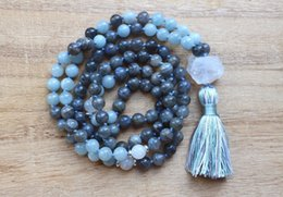 $enCountryForm.capitalKeyWord NZ - Natural Labradorite 108 Mala Bead Necklaces Meditation Mala Necklace Yoga Jewelry Tassel Necklace Hand Knotted Prayer Necklace J190711