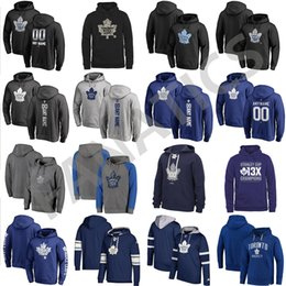 Discount gold leaf embroidery - Cheap Custom Mens Womens Kids Toronto Maple Leafs Best Quality Embroidery Logo Black Blue Gray Navy Hockey Hoodies with