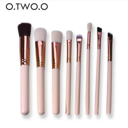 kit brushes pink NZ - O.TWO.O 8pcs Cosmetics Brush Set pink brushes Beauty Eye Primer Powder Blush Brush Soft Synthetic Hair Makeup Kit
