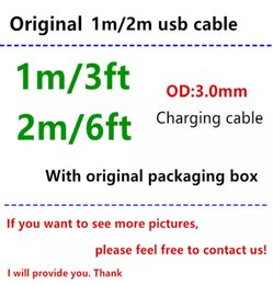$enCountryForm.capitalKeyWord Australia - 50pcs With retail packaging box 1M 3FT 2M 6FT OD 3.0mm USB Data Charger Cable with Braided Weave usb cable for i5 6 7 8 x with green sticker