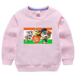 Girls pink sweatshirt online shopping - Toddler Boy Girls Spring Autumn Sports Sweatshirts Costume Y Kids Casual Hoodies Cartoon cute cat Print Cute Pink Clothes