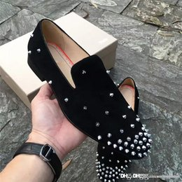 color glitter tips 2018 - 2017 New Christian Christians Multicolored Glitter CL CLss Black Lbille Suede Strass Spike Tip red shoes Doug shoes chea