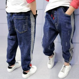 Toddler Boy Jeans Australia - DIIMUU Toddler Kids Jean Boys Jeans Casual Elastic Wasits Loose Long Trousers Sports Outdoor Holiday Children Denim Pants 5-13T