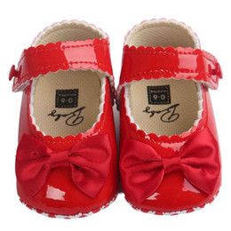 $enCountryForm.capitalKeyWord NZ - 5 Color Girls Shoes Baby Girl Bowknot Leater Shoes Sneaker Anti-slip Soft Sole NDA84L20