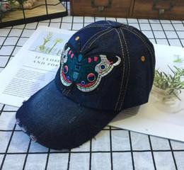 $enCountryForm.capitalKeyWord Australia - Designer Baseball Caps Women Cowboy Hat Flexfit Caps Denim Hat Embroidery Cool Snapback Hats Adjustable Snapback Fashion Hats for Ladies