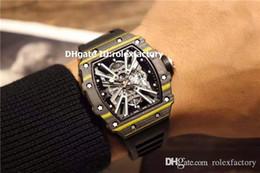 $enCountryForm.capitalKeyWord Australia - New Luxury 12-01 Watch Automatic Black Yellow TPT Carbon Fibers Skeleton Dial Sapphire Crystal Rubber Strap Luminous Sport Men Watches