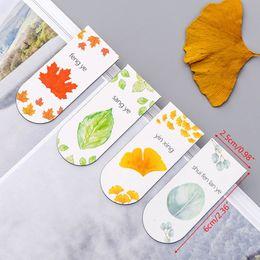 $enCountryForm.capitalKeyWord Australia - 4pcs set Autumn Leaf Simple Plant Magnetic Bookmark Book Marker Page Clip Office Supplies Student Stationery Souvenir Collection