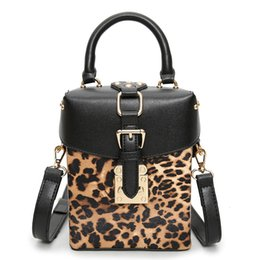 Leopard Print Goods Australia - good quality 2019 New Children Leopard Printing Bags Solid Small Box Handbag Rivets Handbag Shoulder Bag Women Messenger Bags