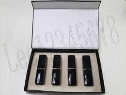 $enCountryForm.capitalKeyWord UK - Popular brand Lip Makeup Matte lipstick 4 color Lips cosmetic black tube matte lipstick 4pcs set best price high quality