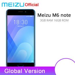 Официальная глобальная версия Meizu M6 Примечание 3Gb 16GB мобильный телефон 4G LTE Львиный зев 625 Окта ядро 5.5