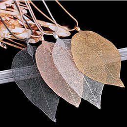 $enCountryForm.capitalKeyWord Australia - 2018 Sweater Coat Necklaces Ladies Girls Special Leaves Leaf sweater Pendant Necklace Long Chain Jewelry for Womens bijou Gift