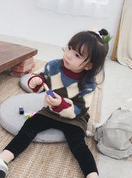 $enCountryForm.capitalKeyWord Australia - WLG girls winter thick sweaters kids acrylic knitted Diamond pattern warm cardigan baby causal all match clothes children 2-7T