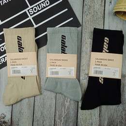$enCountryForm.capitalKeyWord Australia - Kanye West Calabasas Socks Men Women High Quality Cotton Sports Socks New Style Streetwear Season 6 Stockings Black Blue Apricot MTI0401