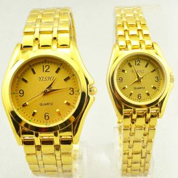 $enCountryForm.capitalKeyWord Australia - Best selling fashion steel belt with couple watches fashion men and women gift table new gold female male scale clock
