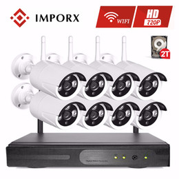 Discount outdoor wireless home security systems - IMPORX 8CH 2TB 720P HD Wireless NVR Kit P2P 1MP Security IP Camera WIFI Home CCTV System Indoor Outdoor IR Night Vision