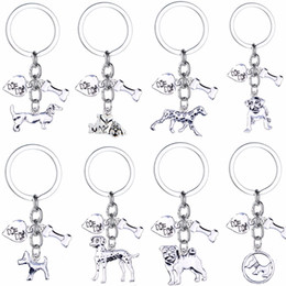 Pet Lovers Gifts Australia - 12PC Lot Hot Pet Dog Bone Heart Key Chain Keychain Charm Pendant Jewelry Women Animals Dog Lover Keyring Gift Car Bag Keyfob