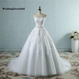 $enCountryForm.capitalKeyWord Australia - 2019 lace flower Sweetheart White Ivory Fashion Sexy Wedding Dresses for brides plus size Beading Crysteals Sash maxi