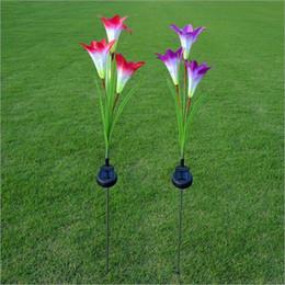 $enCountryForm.capitalKeyWord NZ - Outdoor Solar Garden Stake Lights Solar Powered Lights with 3 Lily Flower, White LED Solar Flowers Lights Outdoor Garden