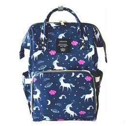 Wholesale 4 Colors Unicorn Mommy Backpacks Nappies Bags Unicorn Diaper Bags Backpack Maternity Large Capacity Outdoor Travel Bags