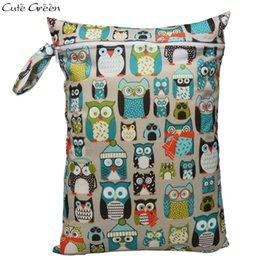cloth bags for diapers NZ - Single Pocket Wet Dry Bag Print Waterproof Pul Stroller Bags Pouch Laundry Bag For Baby Pocket Cloth Diaper Nappy Bags Reusable