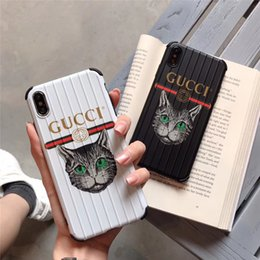sculpting plastic Canada - One luxury iphone xr phone case fashion For iPhone 6 s 7 8 new designer cartoon back cover lovely cat and trunk sculpt