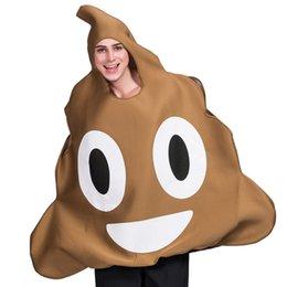 Vente en gros Halloween Merde Emoji Costumes Festival Femmes et Hommes Festival et Thème Costumes Classique Halloween Costume Drôle Vêtements