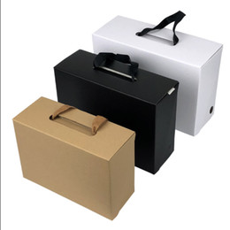 Discount earthing shoes - Wholesale Blank stock Shoes packaging paper box with handles