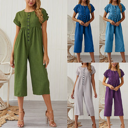 $enCountryForm.capitalKeyWord NZ - Jumpsuits Vintage New Look Spaghetti Woman Casual Dresses New List Spring Summer Fashion Good Fabric Siamese trousers Jumpsuit & Rompers
