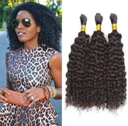 human indian bulk braiding hair Australia - Bulk Human Hair for Braiding 9A grade Peruvian Afro Kinky Curly Bulk Hair No Attachment Braiding