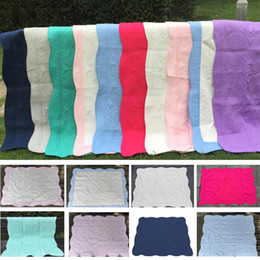 handmade baby blankets Australia - Baby Blanket Newborn Cotton Lightweight Quilt With Embroidery Home Air Conditioning Bed Sleeping Blanket 36*46inches HH7-1276