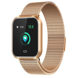 korean phone straps 2019 - Fashion smart watch 1.3 inch color screen CD16 metal strap heart rate sphygmomanometer step sleep monitoring sports brac