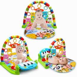 Опт Детские активность тренажерном зале Детская игровая Мат 0-12 месяцев Развивающие Ковер Мягкие погремушки Музыкальные игрушки активность Ковер для младенцев Игры