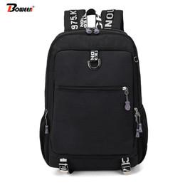 Charging Pack Australia - Teens Men Backpack Usb Charging Laptop Back Pack Large Capacity Preppy Bagpack for School Bags Teenage Boys Backbag Black Oxford
