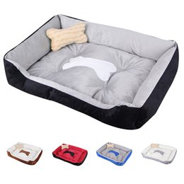housing materials Canada - XXS-XL Size Pet Dog Bed Warming Dog House Soft Winter Nest Cat Kennel Puppy For Warm And Fall Baskets Material