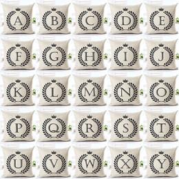 $enCountryForm.capitalKeyWord Australia - Page One Simple Alphabet Pillows Pillowcase Cotton Pillow Case Coverative Linen Letter Cushion Fashion