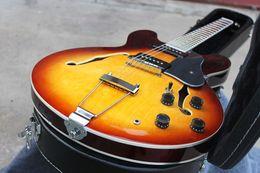 Vintage Sunburst NZ - Top Quality Hot sale LP CUSTOM SHOP ES-330 VOS (Vintage Sunburst) Electric Guitar in stock nice sounds