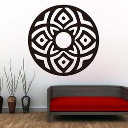$enCountryForm.capitalKeyWord Australia - 1 Pcs Circular Abstract Indian Mandalas Wall Stickers Vinyl Art Religion Pattern Wall Decals F Living Room Home Decor