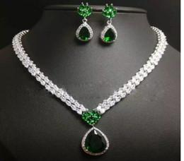 $enCountryForm.capitalKeyWord NZ - wonderful high quality low price more cplor diamond crystal stone bride wedding jewelry set necklace earings (110)nm