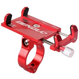 Wholesale Metal Universal Bicycle Phone Mount Holder MTB Mountain Bike Motorcycle Handlebar Clip Stand for inch Smartphones