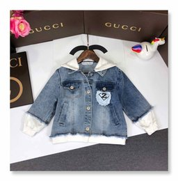 $enCountryForm.capitalKeyWord Australia - Kids designer clothing boys and girls coat fashion spring and autumn casual denim coat cloth graffiti jacket