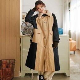 $enCountryForm.capitalKeyWord Australia - LANMREM 2019 new winter fashion women cloting fur collar Woolen Loose Coat single breasted thickness windbreaker WC87504M