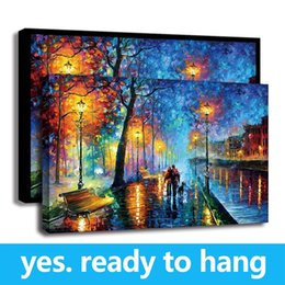 $enCountryForm.capitalKeyWord Australia - Frame Rural Landscape HD Print Painting Canvas Wall Art Lovers Walks In the Street Oil Painting For Home Decor - Ready To Hang